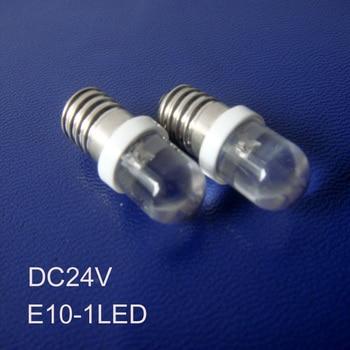 High quality DC24v E10 led Signal lights,E10 bulbs led 24v E10 led car bulbs 24Vdc led E10 Pilot lamps free shipping 500pcs/lot