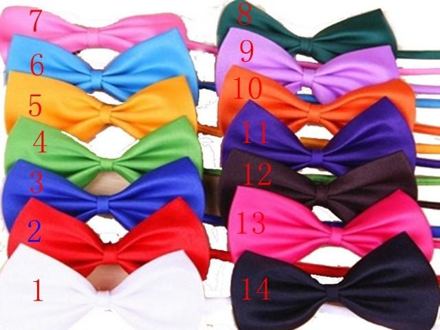 DHL  14 colors  500pcs/lot  Pet Neck Tie Dog Bow Tie Bowtie Cat Tie Pet Grooming Supplies