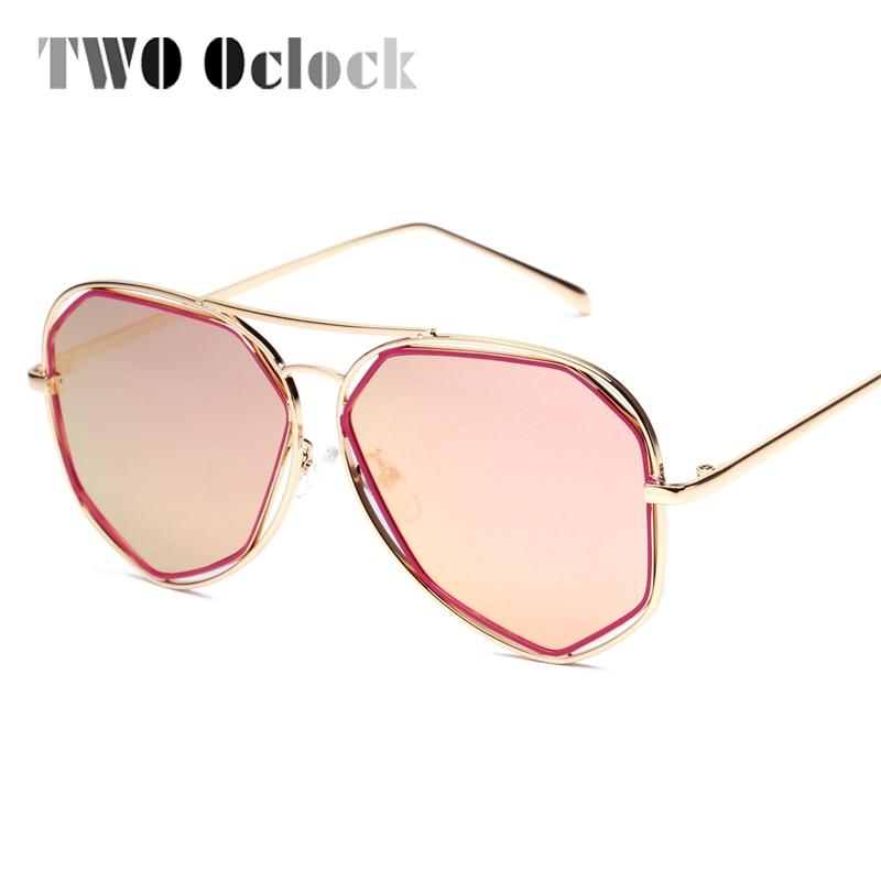 282762a9d المتضخم كبيرة الإطار مرآة النظارات الشمسية المرأة الصيف في الهواء الطلق  نظارات الرجعية UV400 طلاء نظارات شمسية مسدس Sunglases A8302