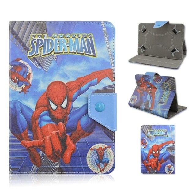 Asseclas Batman Dos Desenhos Animados PU LEATHER Case Capa Suporte Universal 10.1 de polegada 9.7 polegada para samsung tab3 p5200 t520 t530 tablet para crianças