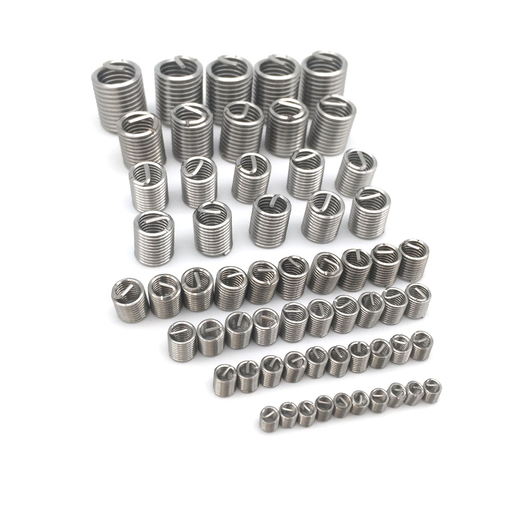 60Pcs Thread Insert Set M3/4/5/6/8/10/12 Thread Repair Insert Kit For Helicoil Repair Tools