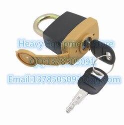 Hangslot Pad Slot Met 2 Sleutel Voor Caterpillar CAT 246 2641 Nieuwste Stijl Vervanging 5P8500 1428828 2010330 2849039|Interieur Deurpanelen & Onderdelen|   -