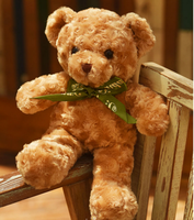 cute plush high quality bow bear toy brown teddy bear doll gift about 45cm 2985