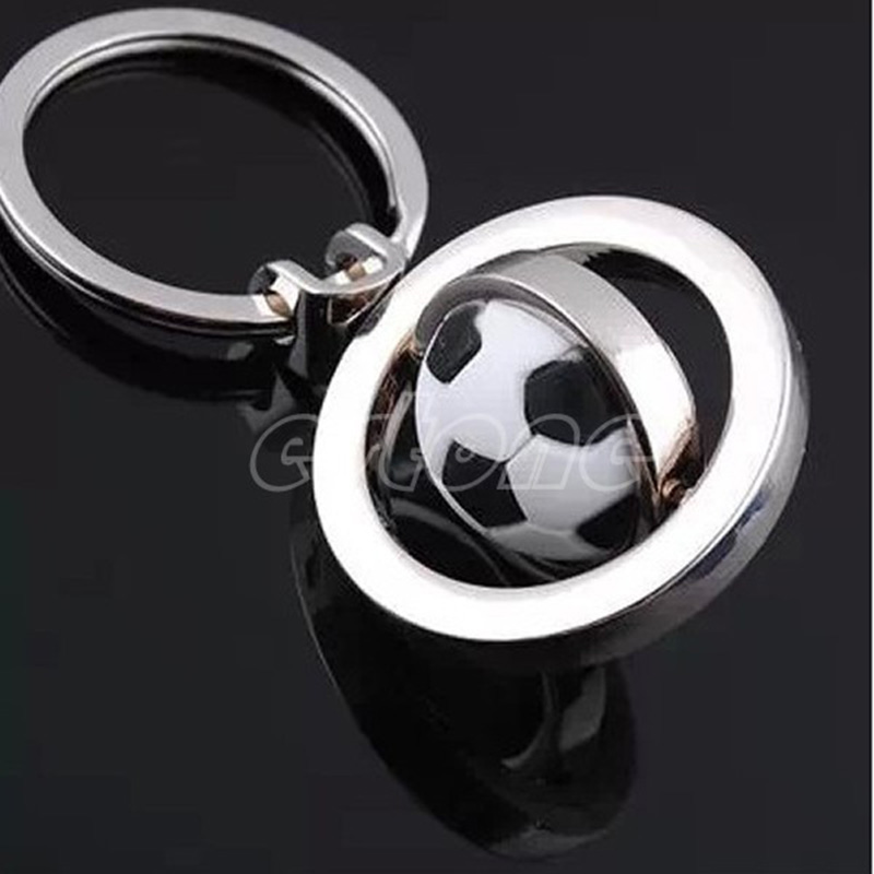 1pc 3D Rotating Basketball/Football/Golf Keychain Keyring Pendant Gift Keyfobt15