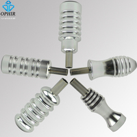OPHIR 5pcs Pro Aluminum Silver Tattoo Machine Gun Grip Tube Back Stem TA061