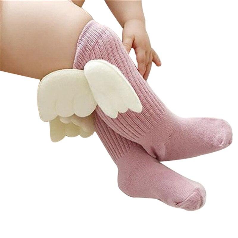 Kids Cotton Socks Baby Cartoon Knee High Socks With Wings Children Sock Baby Girl Leg Warm Toddler Socks 1