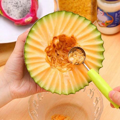 Pratico Doppia Testa di Frutta Baller Melone Carve Scoop Cucchiaio di Casa Attre