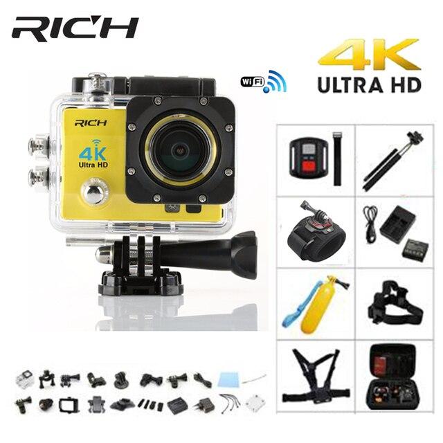 Cámara de Acción rica Q5H pro 4 K WiFi Ultra HD 1080 P Full cámaras de acción impermeable Cámara subacuática casco Cam cámaras Deportivas ir