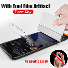 Full Cover Hydrogel Protective Film For Samsung Galaxy S9 S8 Plus Soft Screen Protector For Samsung Note 9 8 A8 S7 Edge Film термостакан woodsurf on the way цвет белый 500 мл