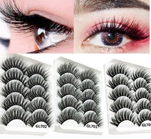 2019 New 5 Pairs 6D Mink False Eyelashes Handmade Nature Cross Soft Long Eye Lashes Extension maquillaje maquiagem