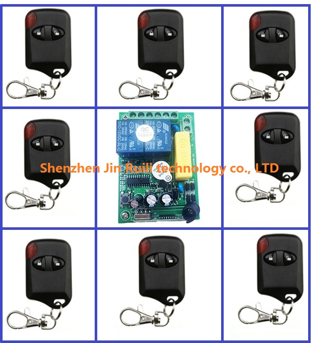 ФОТО AC 220V 2 Channel Wireless Remote Control Switch 1 pcs receiver + 8 pcs cat's eye transmitter & Smart home + Simple operation