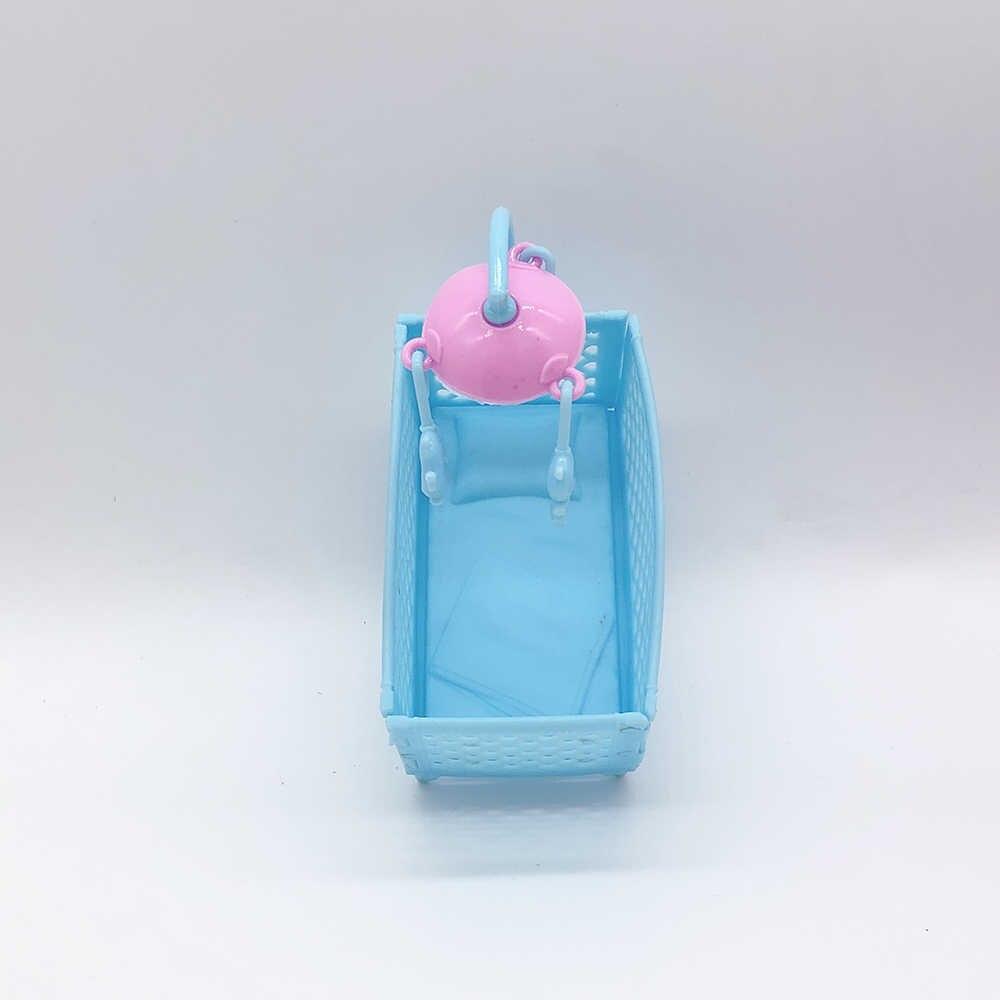 Nuovo 2019 mini imitazione mobili letto bambola della principessa bambola accessori per la casa dei bambini del giocattolo del bambino letto culla