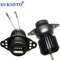 SUKIOTO 1Pair 20W LED Marker E90 Angel Eyes E91 LCI 09+ E90 Marker LED Halo Rings Xenon White Auto Car LED DRL Kit Car Styling