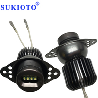 SUKIOTO 1Pair 20W LED Marker E90 Angel Eyes E91 LCI 09 E90 Marker LED Halo Rings