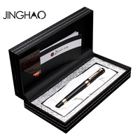 Jinghao Pimio 917 Luxury Black With Golden Clip Rollerball Pen With Original Gift Case 0 5mm