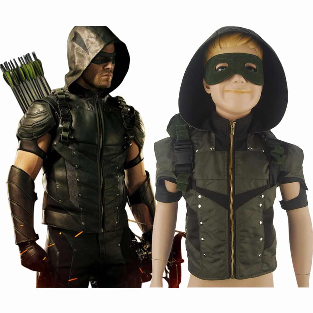 Sudadera Con Capucha Para Chicos Y Niños De Arrow Verde Temporada 4 Chaqueta Reina Disfraz De Cosplay Con Cómic De Halloween Cosplay Costume Arrow Seasonoliver Queen Aliexpress