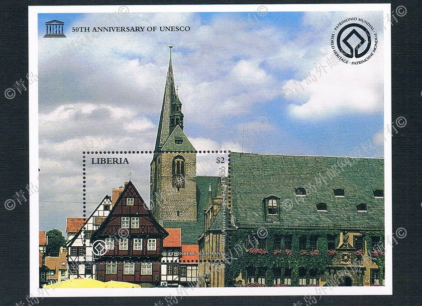 1996 Germany AA1044 Liberia World Heritage Dekui Limburg 1M new 0903 cr0017 czech 1996 world heritage roleta and shengnai bohm church 2 new 0528 grams