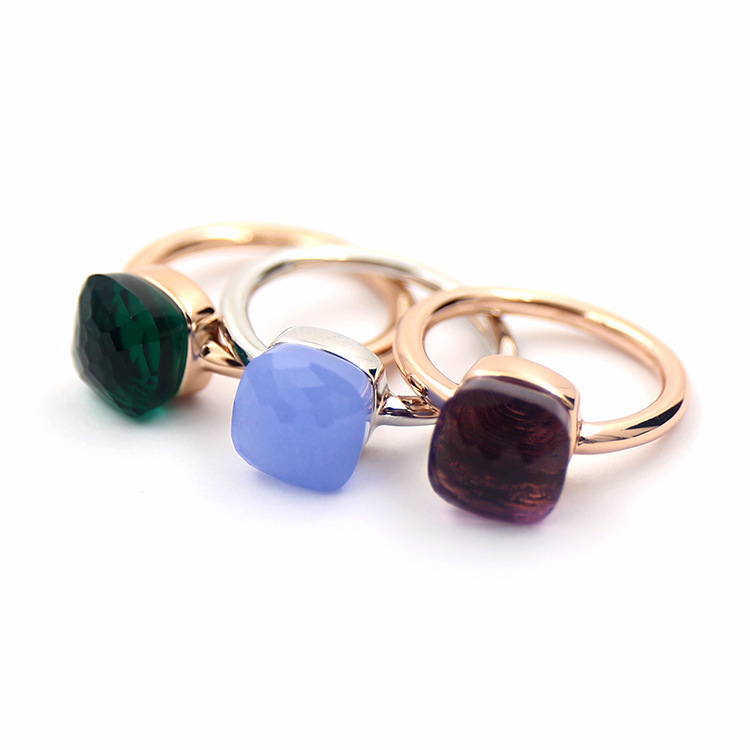 DJMACC Classic Water droplets Candy style Ring