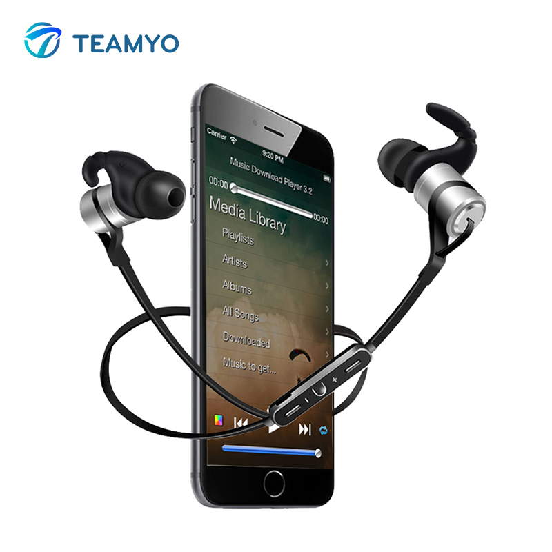 Temayo Earphone Wireless Headphone Buetooth earphones With Mic Headset Fone de ouvido Neckband For iPhone Mobile Phone MP3 MP4 sport wireless earphone headphone earphones headphones headset music mp3 player tf card earbuds fm radio fone de ouvido l3fe