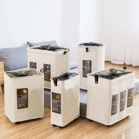 Dirty clothes storage basket folding pulley dirty clothes bathroom large laundry basket fabric hamper toy storage bucket