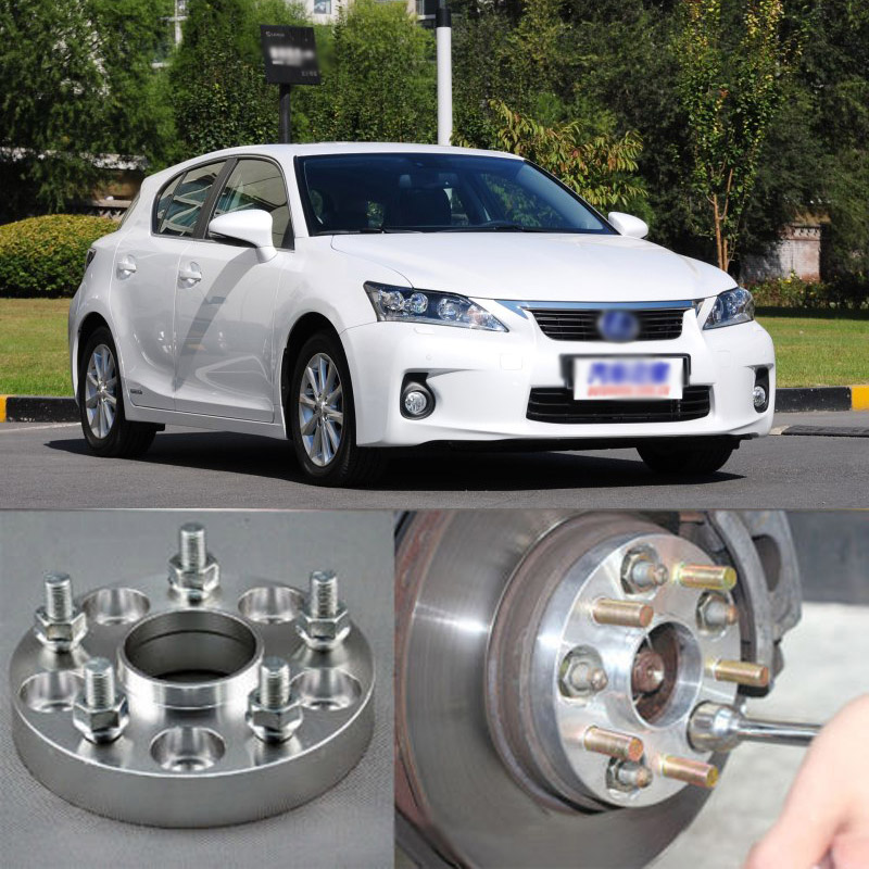 Teeze 4pcs Billet 5 Lug 12x1.5 Studs Wheel Spacers Adapters For Lexus CT 2011-2017 4pcs new billet 5 lug 14 1 5 studs wheel spacers adapters for volkswagen touareg