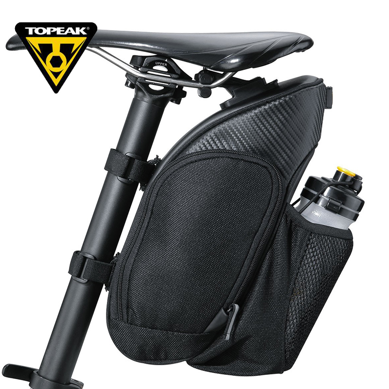 TOPEAK 1.7L Bicycle Saddle Bag High Quality 120D Polyester Mountain Road Bike Rear Bag Seat Tail Bag With 3M reflective strip osah dry bag kayak fishing drifting waterproof bag bicycle bike rear bag waterproof mtb mountain road cycling rear seat tail bag