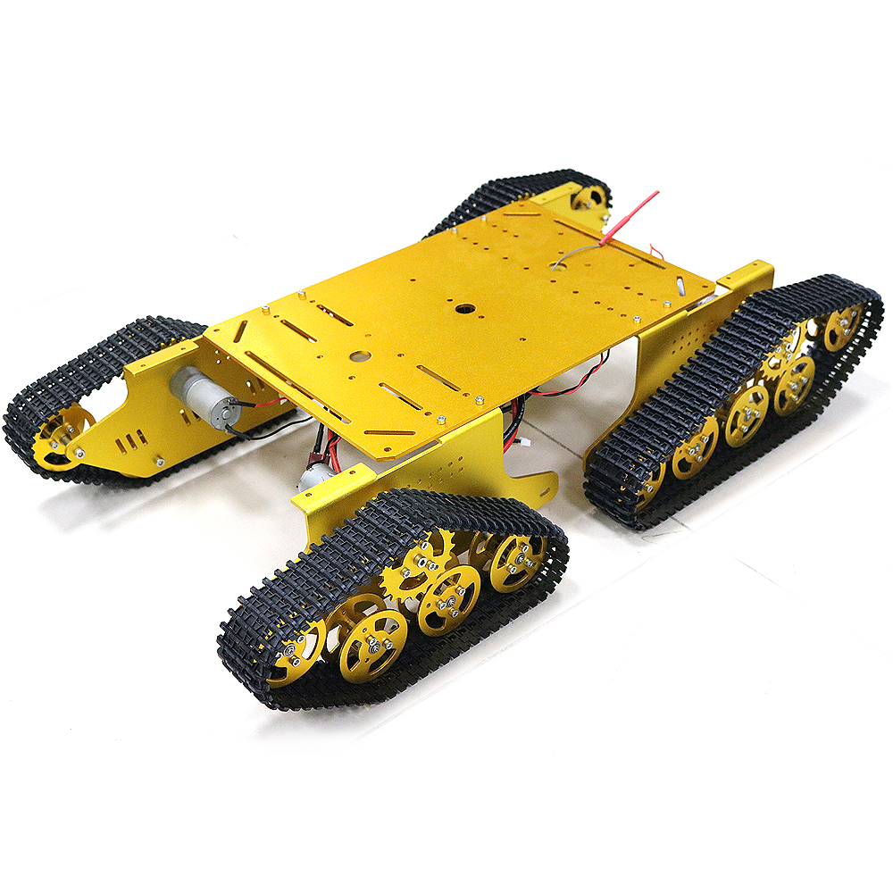4wd RC Metal Tank Chassis Robot Crawler Tracked Caterpillar Track Chain Car Vehicle Mobile Platform Tractor Toy for Arduino T900 цены онлайн