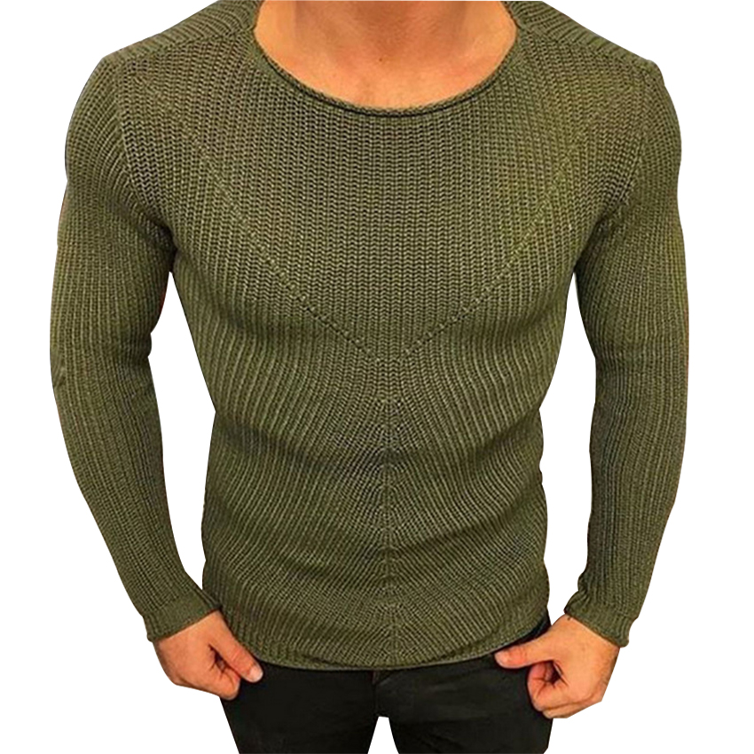 Sweater Men's Wear New Round Collar Pullover Knitted Sweater Mens Pullover Striped Sweaters Men Clothes Autumn Winter Clothes