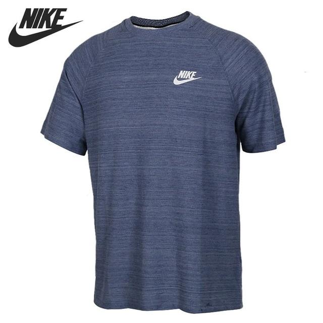 detail 2 view of mens nike sportswear av15 knit t shirt in blue 1a4c415e9