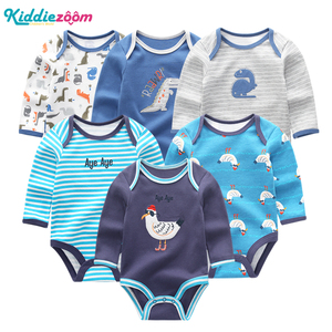 Image 3 - 新しい男の赤ちゃんロンパース服女の子遊び着幼児ジャンプスーツ長袖ベビー服の夏の少年 roupas デパジャマベベ服