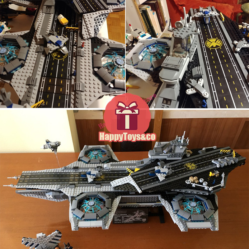 Legoing Super hero series 76042 3057Pcs The Shield Helicarrier toys For Children Gift 07043 Building Blocks Set Compatible купить