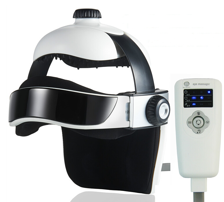 Brand comfortable Head relax Massage Helmet -Head Massager Electric Eye neck massager Pain Relief Relaxing Apparatus