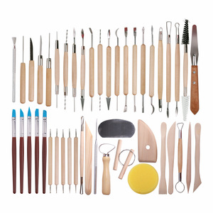 Image 1 - DINIWELL 45 PCS Pottery Clay Sculpting Tool Sets For Beginners Professional Art Crafts Wooden Handle Modeling Ceramic Clay Tools