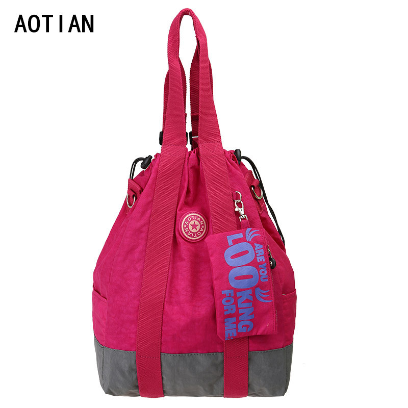 AOTIAN Waterproof Nylon Bucket Cheap Women O Bags Pink Shoulder Bags Women's Handbags Bolsa Feminina Sac A Main Waterproof Nylon