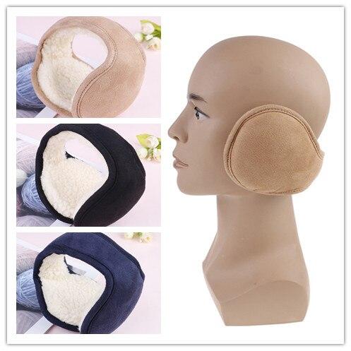 Women Men Warm Plush Earflap Foldable Adjustable Ear Muffs Ear Cover Winter Earmuffs Back Wear Ear Warmers