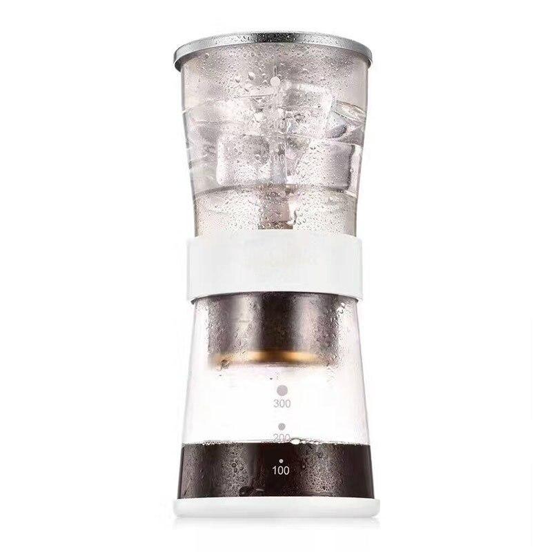 מיני קפה זכוכית עמיד בחום percolators/ביתי קרח טיפות כיסוי נירוסטה סיר קפה