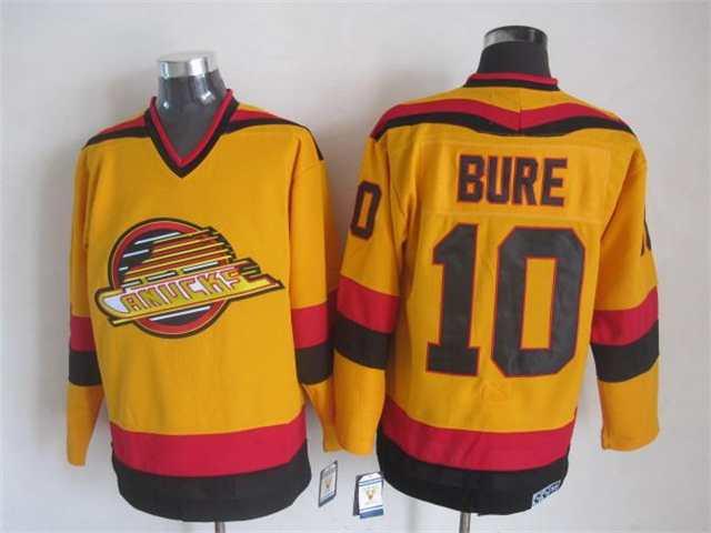 meet eb57c ec1a1 NHL Throwback Jersey Vancouver Canucks 10 Pavel Bure 1989 ...