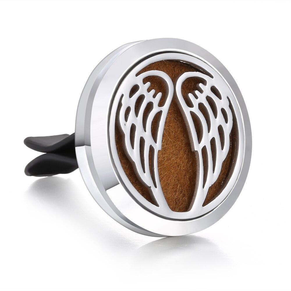 Ароматический диффузор ожерелье открытый медальон Подвеска для ароматерапии диффузор эфирного масла автомобильный освежитель воздуха автомобильный парфюмерный диффузор зажим - Окраска металла: 2
