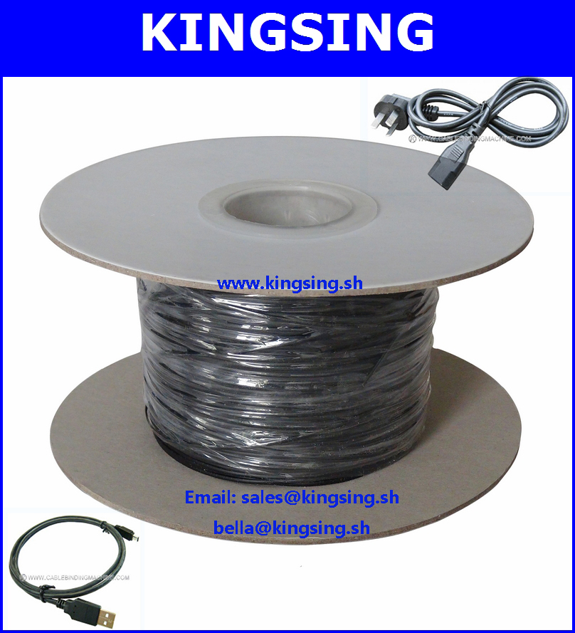 500m/roll Black PVC Plastic Coated Metal Wire, Wire Tie Cable With ...