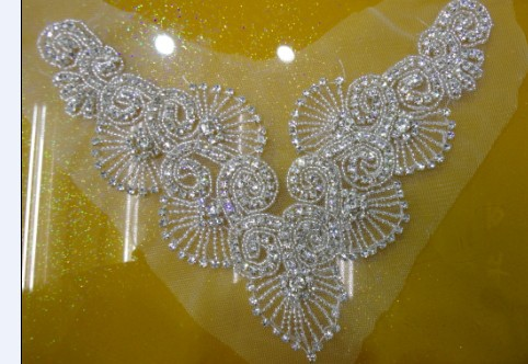 1db642b6c1 2015 rhinestone decoration necklace beaded bridal trims bridal Sew on  rhinestone Applique for wedding evening dresses-in Rhinestones from Home &  Garden on ...