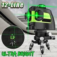 4/8/12 Line Rotary 3D Cross 360 Self Leveling Laser Level Vertical Horizontal Tripod Green Laser Beam Line Level Tools For Decor