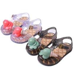 Melissa Conch Shoe Aranha VIII сандалии-Босоножки Ice-cream стильные сандалии для девочек мягкие ПВХ липучки обувь для девочек летние размеры 8-13