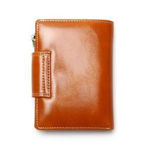 Image 2 - Portefeuille pour femmes en cire dhuile, portefeuille 2020, pochette de marque en cuir, Long, portefeuille Design décontracté