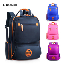 EKUIZAI Fashion School Bags For Students Candy Orthopedic Children School Backpacks Schoolbags For Girls And Boys Kid Mochila new fashion school bags for teenagers candy waterproof children school backpacks schoolbags for girls and boys kid travel bags