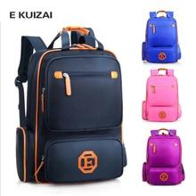 EKUIZAI Fashion School Bags For Students Candy Orthopedic Children School Backpacks Schoolbags For Girls And Boys Kid Mochila недорого