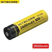 Бесплатная доставка Nitecore NL1826 2600 мАч 18650 3,7 В Перезаряжаемые литий-ионный аккумулятор (NL186)