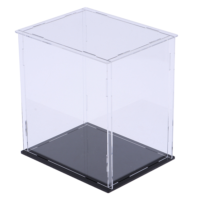 Acrylic Display Show Box Case Toy Dustproof Tray Protection For Model Dolls