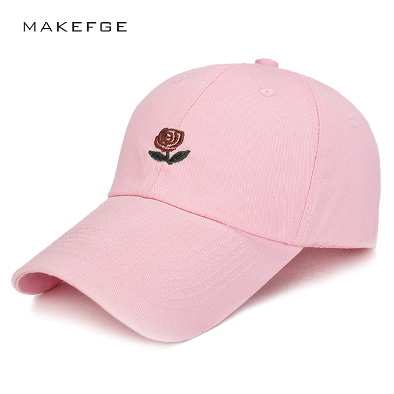 100% Cotton Rose embroidery hat black s