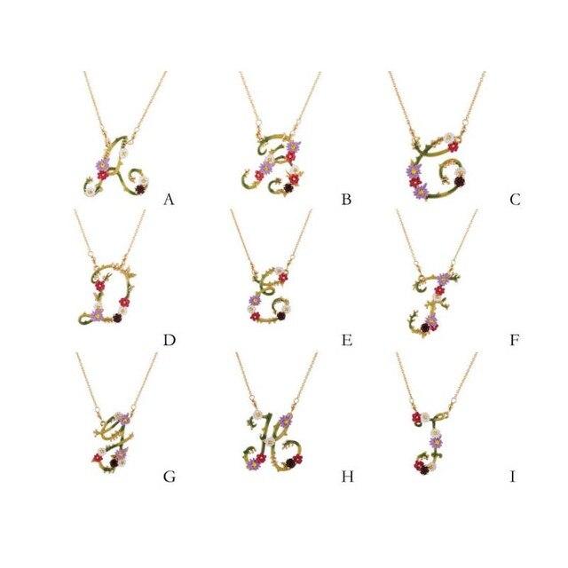 Ле Nereides Простой Элегантный Новый Уникальный Письмо Цветы Ожерелье Для Женщин Хорошее Качество