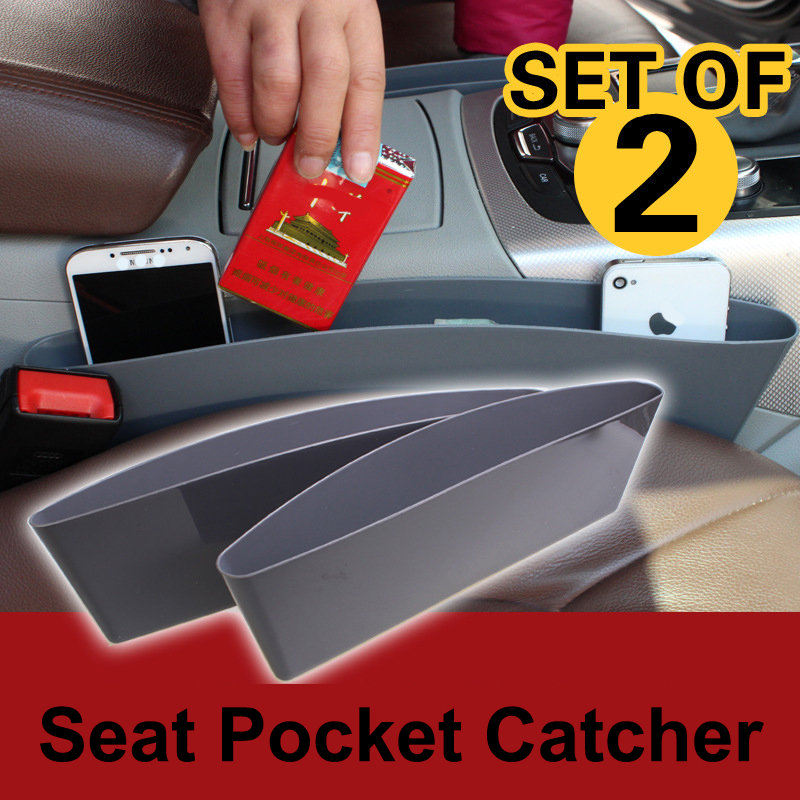 Universal car seat storage pocket catcher box container between seat